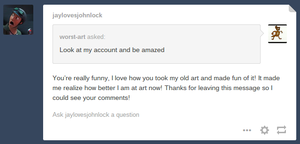 this is how you respond to these blogs by Bluejayartist