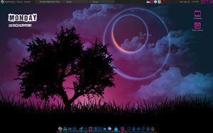 The Purple Day. With custom Icons and Conky. by speedracker