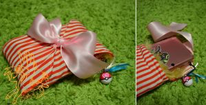 Candy Stripe 3DS Pouch by CoffeeCupPup