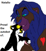 Natalio and prowltheautobotx7 cuddle by Natalia-Clark