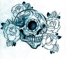 Sugar Skull shirt design by WillemXSM