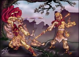 Wukong VS Septimous Fox Color2 by BlackUniGryphon