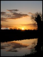 Irish Canal Sunset by fluffyvolkswagen