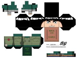 Rock Lee-Cubeecraft by simplementemoe