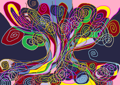 Today's doodle in MS Paint I call String Theory by GrumpyOldArtist