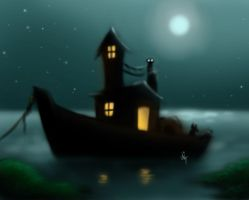Speedpainting Boathouse by hglucky13