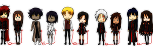 DGM: Chibi couples by GazeRei