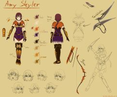 OC ref- Amy Skyler by Sky-the-Guardian