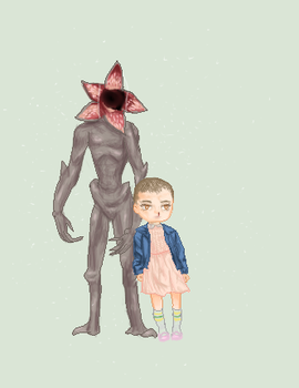 Stranger Things | Eleven and the Demigorgon by Fantage-Chibi