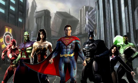 Justice League Heroes (Injustice style) by The-Random-Bats-333