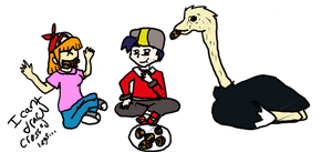 [REQUEST] Sky, Dusty, and Ostrich eating Cookies by Dustyfootwarrior