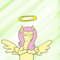 Such an angel.... by Wolfy-Pony