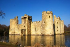 Bodiam Castle in Winter 2 by wintersmagicstock