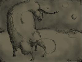 Aurochs. White night. by Kaelte