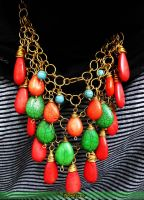 Turquoise Dangles by mariachughtai