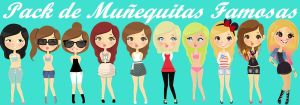 Pack de nenas Famosas PNG by ShotInTheLight