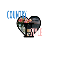 I Heart COUNTRY STYLE by PandaBarBear