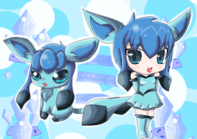 Chibi Glaceon by Psychoticly-Cute