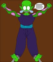 Piccolo Jr.'s bare feet tickled by feathers by DragonBallFan2012