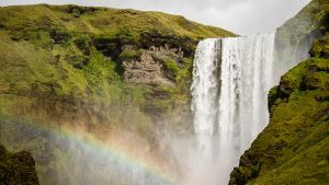 Skogarfoss Waterfall in Iceland by sheiberart