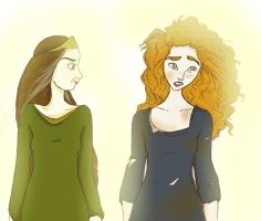 Merida and Elinor by twirkle
