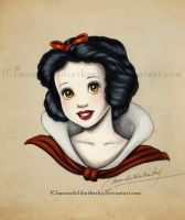 Snow White Portrait Color by MoonchildinTheSky