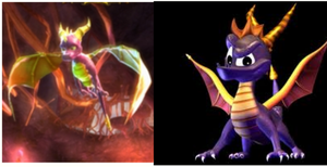 new spyro and classic spyro by spyroandcynder4ever2
