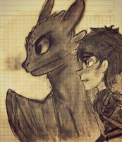 Hiccup and Toothless by Thetruffulacupcake