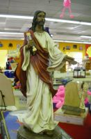 Jesus with Pink Flamingos by archambers