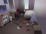 Messy Bedroom by CrumpetsHarvey
