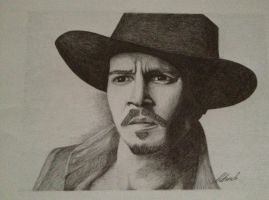 Johnny Depp portrait by Udvardi