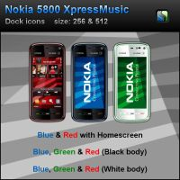 Nokia 5800 XM PNG by Senthine