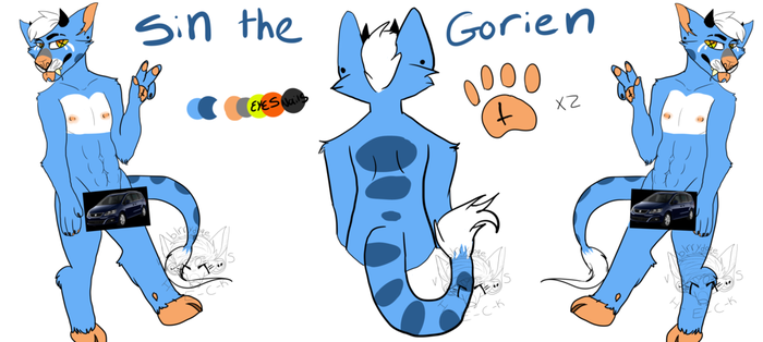 Official Sin The Gorien Ref Sheet! by Sin-the-Wolf-Hybrid