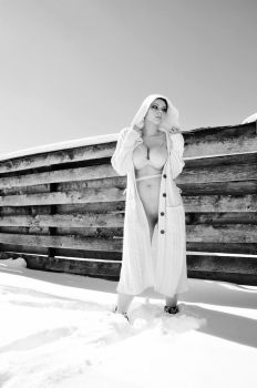 Brittani in the snow by hollistreetman