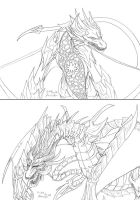 Dragons of Yggdrasil by Dark-Emissary