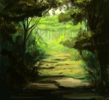 another forest scene by TheseGuys