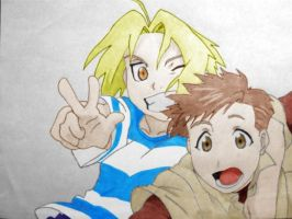 Edward and Alphonse color by AvianFighter