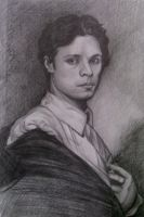 Ingres Pencil Study by hever