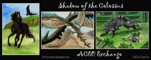 ACEOs - Shadow of the Colossus by Tavaris