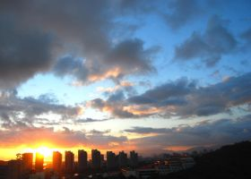 Sanya skyline sunset by Mygrapefruit