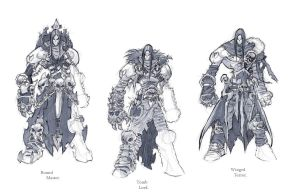 Darksiders II armour concepts Necromancer by DawidFrederik