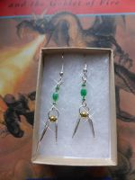 Harry Potter Slytherin Golden Snitch Earrings by Carrie-AnneSevenfold