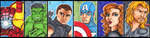 The Avengers by Cheekydesignz