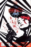 Secret Avengers Sketch Cover: Black Widow by skyscraper48