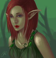 forest elf (commission) by Octish