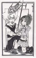 KHR - Tsuna and Chrome by KickBass77