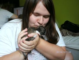 I kissed one of the puppies by KatarinaTheCat
