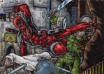 Deadpool - Sketch Card by tonyperna