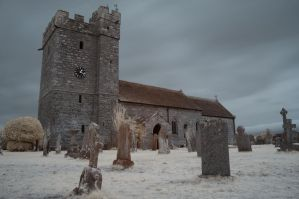 St Cuthbert's Church IR False Colour by richsabre