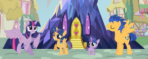 MLP Sparkle And Sentry Familly by SilverSentryYT